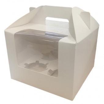 White Glossy Cupcake Box